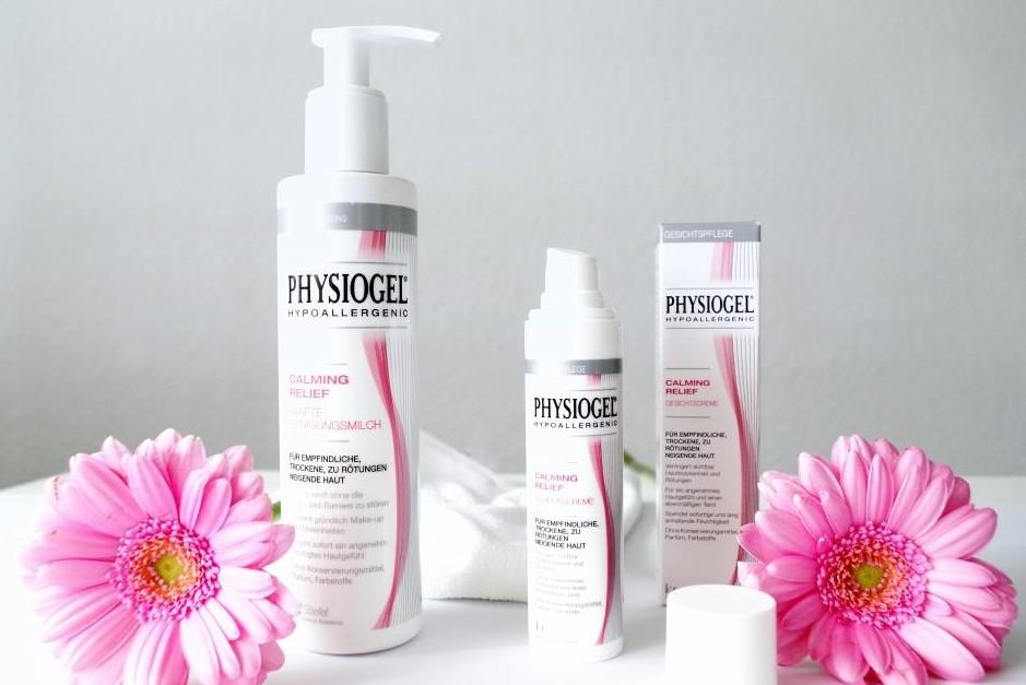 Physiogel Calming Relief Gesichtspflege Tagespflege und Reinigungsmilch sensible Haut 01