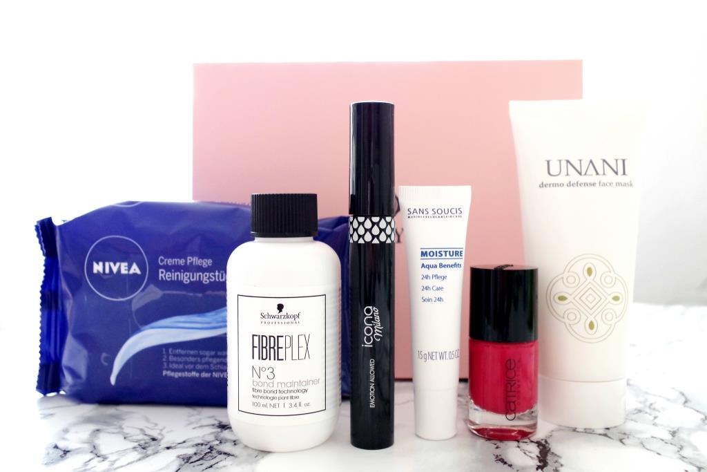 Glossybox 2016 Classy Queen Mai Beautybox UNANI Icona Nivea Sans Soucis Catrice-002