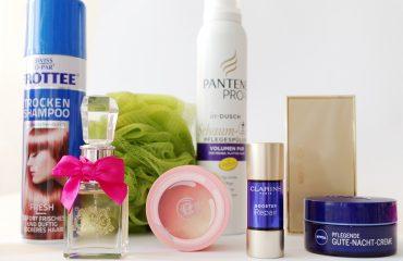 Mai Favoriten Makeup Skincare Beauty Estee Lauder Clarins Nivea TBS Pantene Juicy Couture Swiss o Par