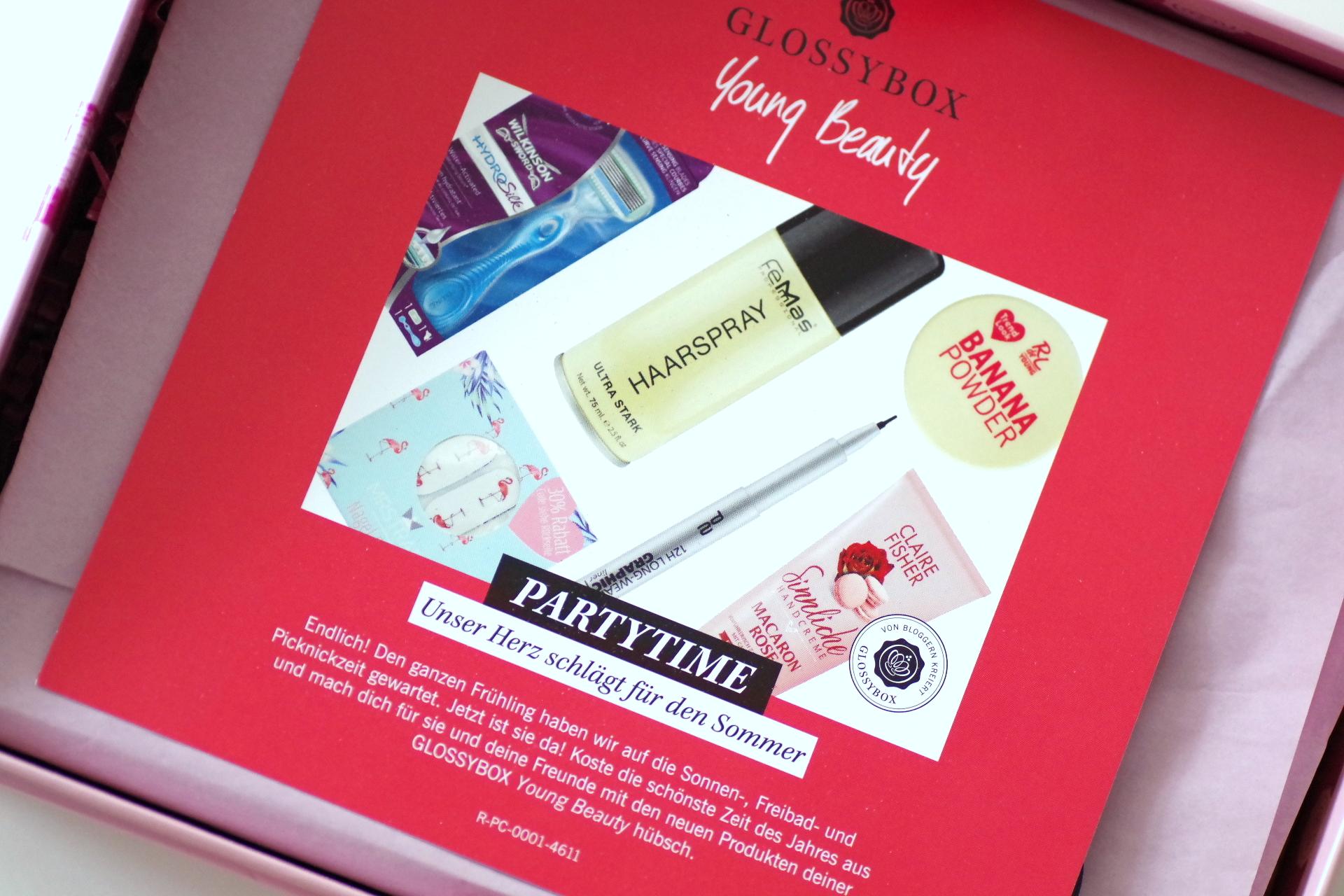 glossybox young beauty juni 2017 the makeup jungle. Black Bedroom Furniture Sets. Home Design Ideas